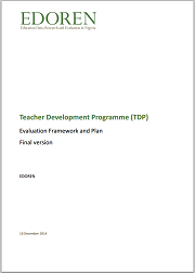 Cover - TDP evaluation framework and plan