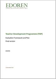 Cover - TDP evaluation framework and plan