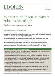 What are children in private schools learning